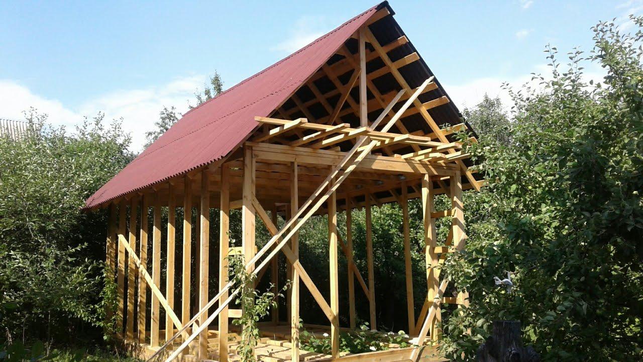 Каркасный дом своими руками 6 на 4 метра строю один без посторонней помощи