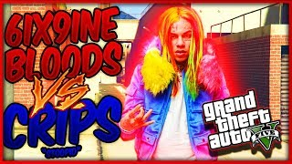 "GTA 5 6IX9INE BLOODS VS CRIPS PART 1 ""STOOPID"" (GTA 5 SKIT)"