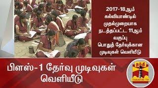 BREAKING | பிளஸ்-1 தேர்வு முடிவுகள் வெளியீடு | Plus one Result 2018 declared | Thanthi TV