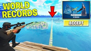 *NEW* PLAYGROUND WORLD RECORDS with FANS! (Fortnite PLAYGROUND MODE Gameplay)