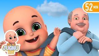 Dhobi Aya Dhobi Aya | Lala ji ne kela khaya - Hindi Rhymes for children by Jugnu Kids