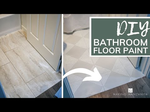 how to paint tile floor with