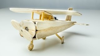 How To Make a Plane With DC Motor - Awesome Plane - Using Popsicle Sticks (Electric Plane)