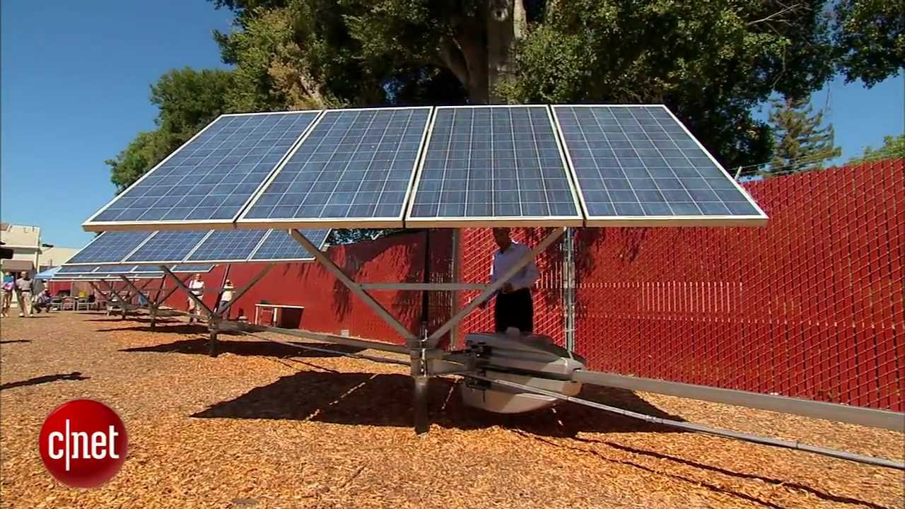 Robots Pivot Solar Panels To Face The Sun Youtube