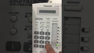 How to solve this? Panasonic TDE600 Exchange receive CO dial tone but not dialing