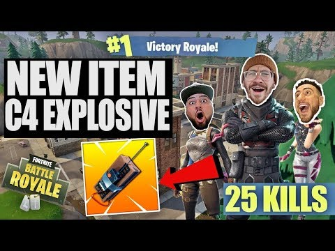 NEW C4 REMOTE EXPLOSIVE!! FORTNITE BATTLE ROYALE WITH TEAM ALBOE!!