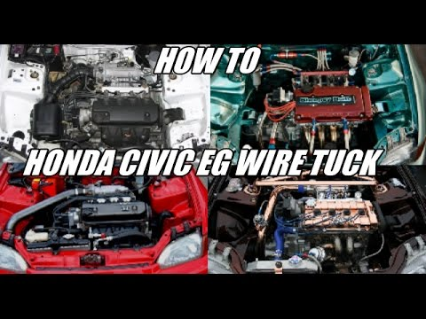 How to wire tuck a Honda civic EG / del sol / Integra