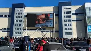 Первый раунд Как болели за Хабиба в Барнауле. Nurmagomedov vs McGregor