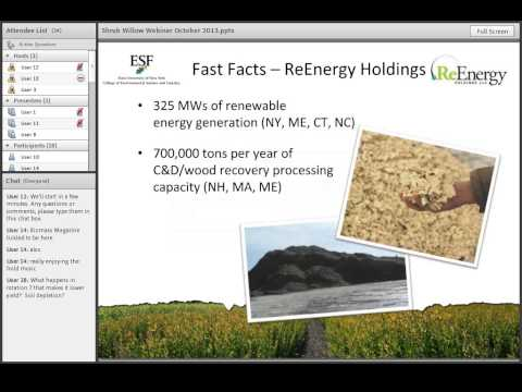 Renewable Energy from Woody Biomass and Shrub Willow - Northeast Bioenergy Webinars 2013 10 08