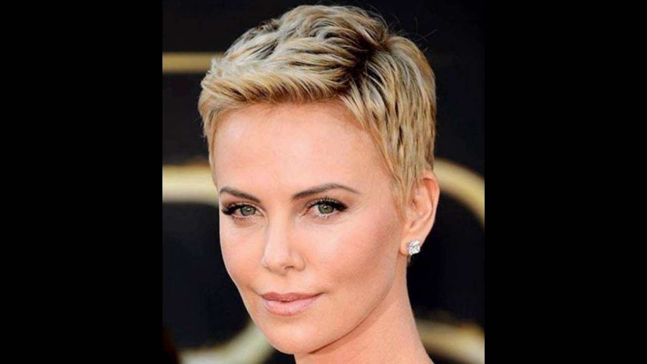 Spike Hair Style: Charlize Therons Spiky Texture With Pixie Cut