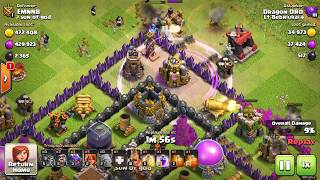 DraGoVa Dragons+Golems+Valkyrie TH 8 attack Clash of Clans LT VIP