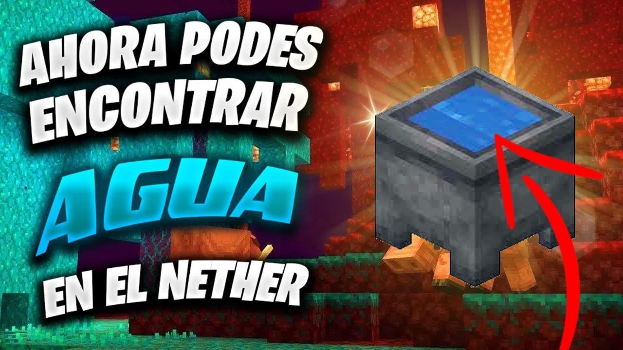 Ahora podes encontrar AGUA en el Nether (Minecraft 1.16.2)