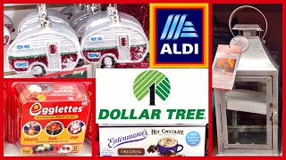 DOLLAR TREE & ALDI SHOP WITH ME | VLOGTOBER