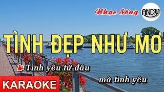 Tình Đẹp Như Mơ Karaoke (Tone Nam ) - Beat Nhạc Sống 2019