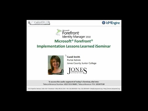 Jones County Junior College's (an Oracle® PeopleSoft® User) iSeminar
