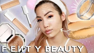 NEW FENTY BEAUTY | CONCEALERS & SETTING POWDERS | WEAR TEST REVIEW