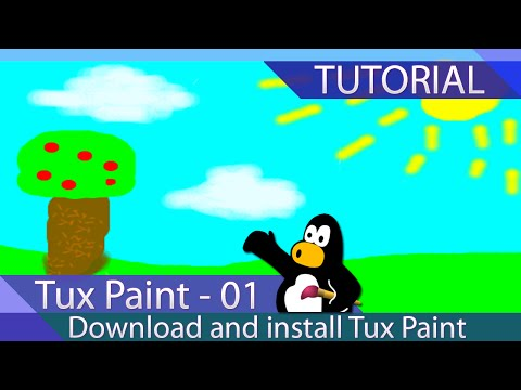 Tux Paint - Tutorial 01 - Download And Install Tux
