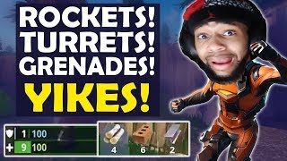 ROCKETS, TURRETS AND GRENADES EVERYWHERE! | VS SQUADS HIGH KILL FUNNY GAME -(Fortnite Battle Royale)