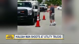 Florida homeowner shoots at AT&T trucks, upset they were parked outside his home