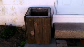 Diy Outside Wood Trashcan.