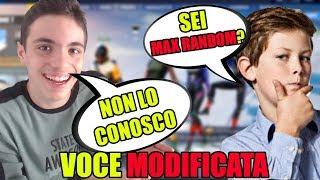 TROLLO DEI MIEI FAN CON LA VOCE MODIFICATA DA BAMBINO SU FORTNITE!! MI RICONOSCONO ED IO...