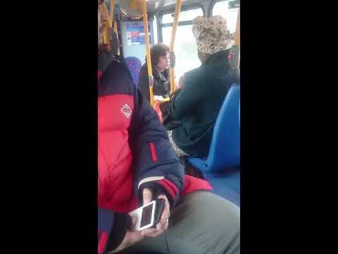 Racist woman on Bus in London