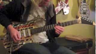 Custom Guitar Made Out Of Hockey Sticks. Part 8 Of 8