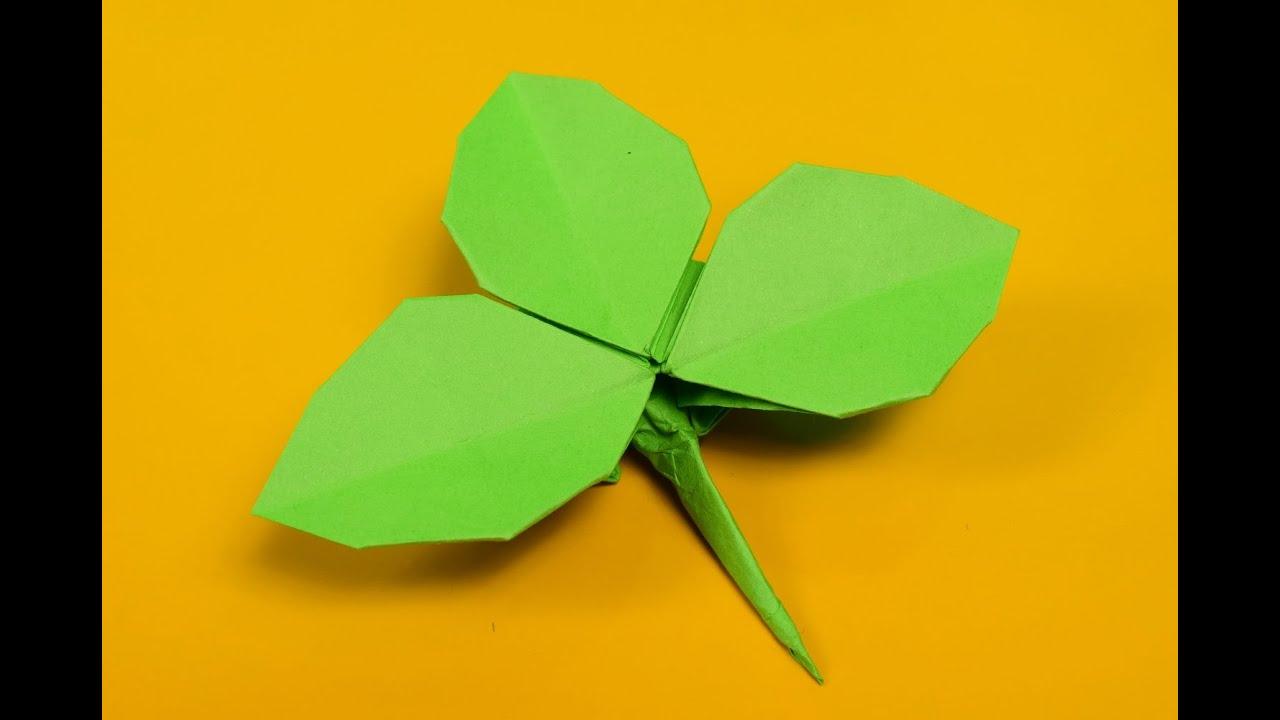 Rose Leaf Origami - YouTube - photo#31