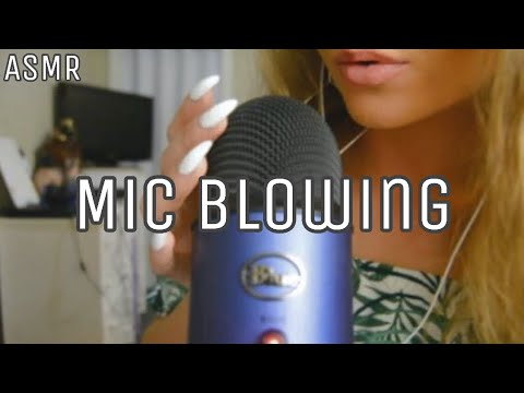 Mic Blowing ASMR (Whispering, Soft Mic Touching)
