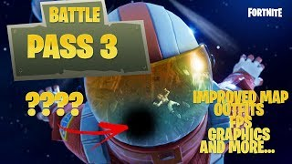Fortnite Nouvelle mise à jour 'BATTLE PASS 3' INSANE ITEMS - Outfits/Gliders/Trails/FPS!!!
