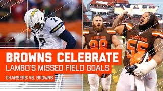 Chargers Miss Two 4th Quarter Field Goals to Give Browns 1st Win! | NFL Week 16 Highlights