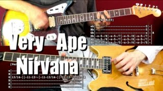 Very Ape - Nirvana ( Guitar Tab Tutorial & Cover ) | Ft. Félix Fuentes