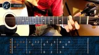 """Cómo tocar """"Con la Cara en Alto"""" de Reik en Guitarra (HD) Acordes - Christianvib"""