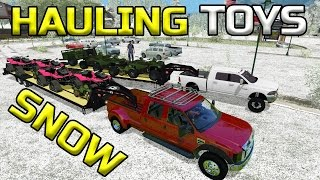 FARMING SIMULATOR 2017 | HAULING TOYS IN THE SNOW | MULTIPLAYER!