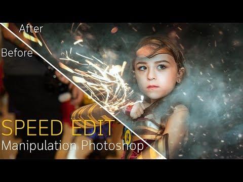 Speed Edit: Manipulation Photoshop Tutoria (Wonder Woman) [Photoshop Tutorial]