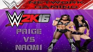 WWE 2K16 Divas Gameplay Paige vs Naomi - PS4 / XBOX ONE / PC