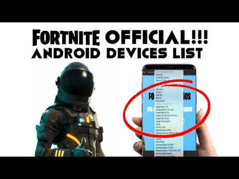 fortnite android devices list