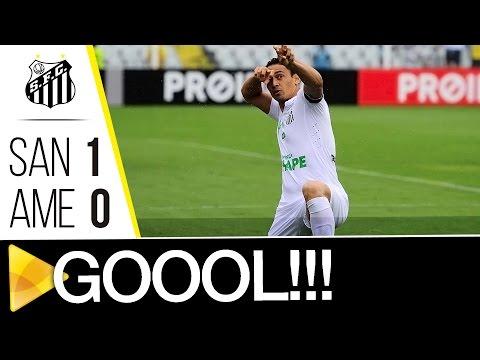 Santos 1 x 0 América-MG | GOL | Brasileirão (11/12/16)