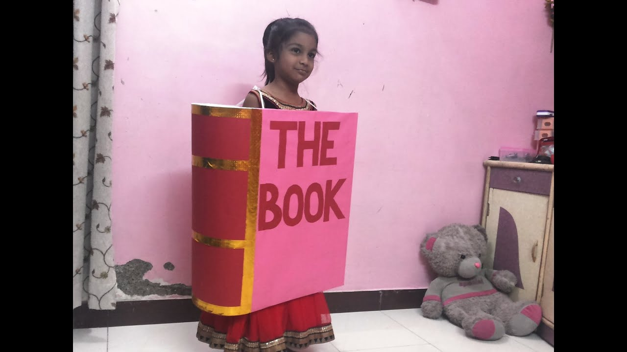 Book Cover Ideas For Competition : Sejal fancy dress competition book youtube