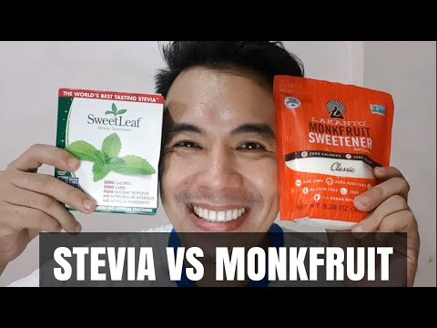 SWEETENER COMPARISON: MONKFRUIT AND STEVIA AND TABLE SUGAR
