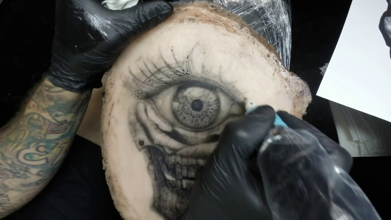 How to tattoo skull tattoo rose tattoo eye on fake for How to make fake skin for tattooing