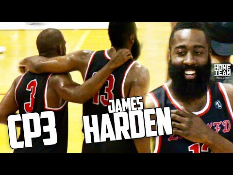Chris Paul & James Harden Debut at Drew League! Highlights - Houston Rockets Duo