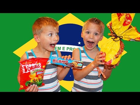 Kids Try Foods From BRAZIL || TryTreats