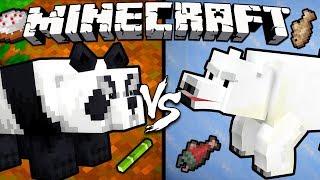 Panda vs. Polar Bear - Minecraft