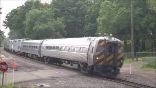 Amtrak Train Spotting @ Norton Ln Crossing In Berlin CT (With Cool Vermonter Consist)