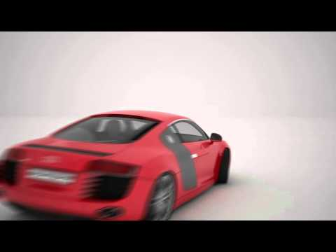(AUDI R8) Realistic car animation test- 3ds max and Vray