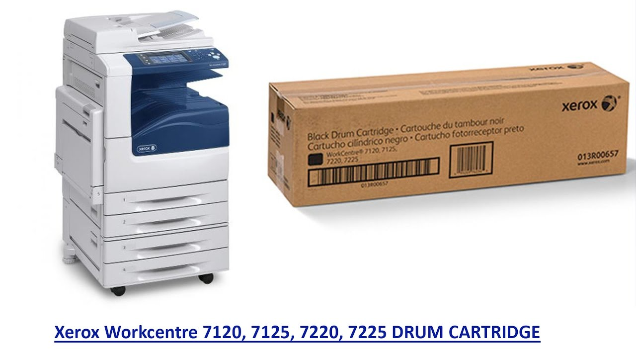 HOW TO REPLACE THE DRUM CARTRIDGE ON A XEROX WC 7120/725/71220/7225