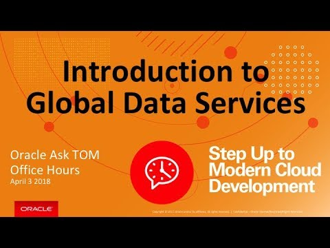 AskTOM Office Hours: Global Data Services