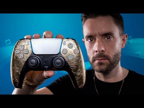 Custom Gold & Diamond PlayStation 5 Controller