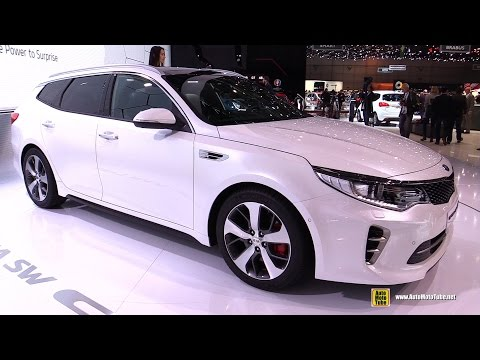 2017 KIA Optima SW GT Sportwagon Exterior Interior Walkaround Debut at 2016 Geneva Motor Show
